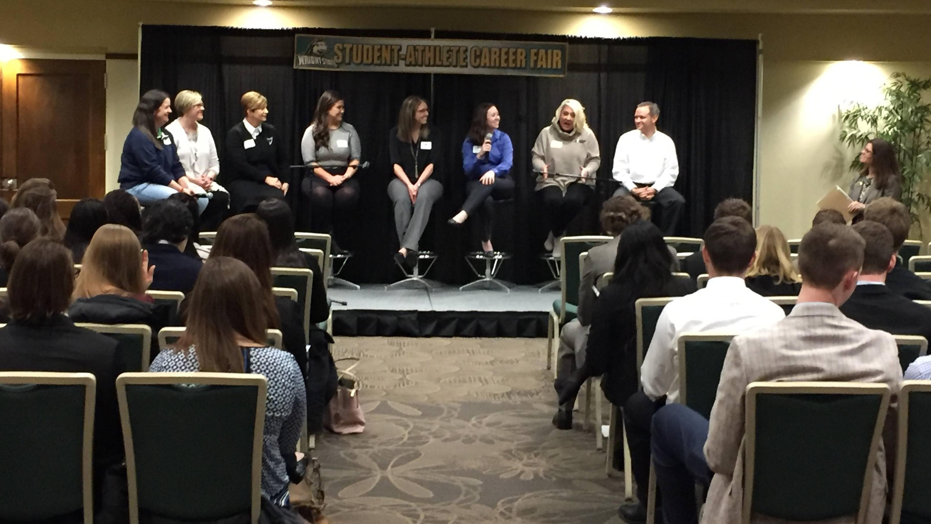 Wsu Athletics Hosts Career Fair Wright State University Athletics