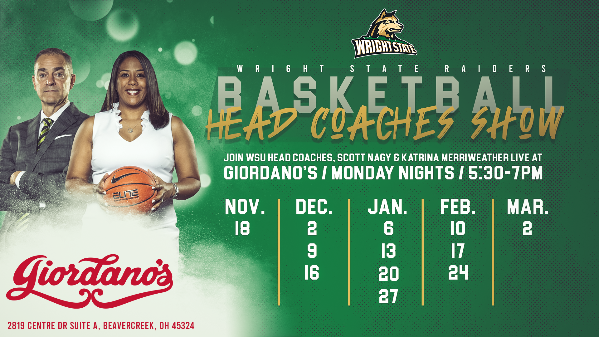 Wright State Graduation 2020.Coaches Shows Set For Giordano S Wright State University